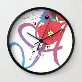 Floral A Wall Clock