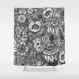 Botanical Floral Artwork Shower Curtain