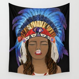 Native Inhale Wall Tapestry