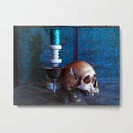 Skull in dark setup 2 Metal Print