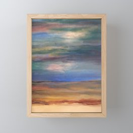 Double Setting Sun Framed Mini Art Print