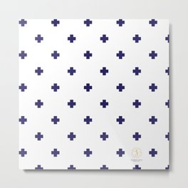 Modern Swiss - Bold Style Cross Plus Sign Metal Print