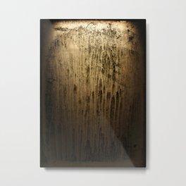 Old gold window at night Metal Print