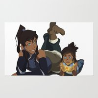 korra Area & Throw Rugs featuring You've Grown up Korra by Carishinlove