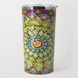 Mandala on copper plate 4 Travel Mug