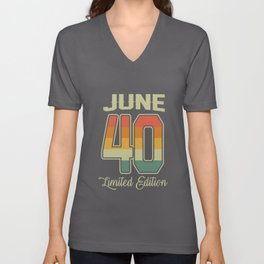 Vintage 80th Birthday June 1940 Sports Gift Unisex V-Neck