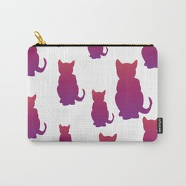 Faded Cat Carry-All Pouch