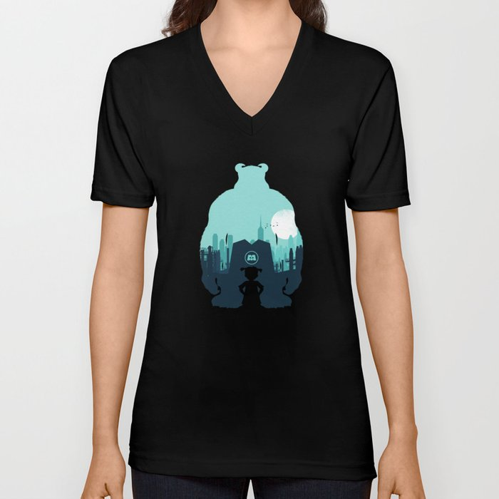 Welcome To Monsters, Inc. Unisex V-Neck