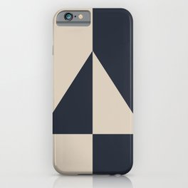 Light Beige and Blue Minimal Triangle Design 2021 Color of the Year Uptown Ecru & Classic Navy iPhone Case