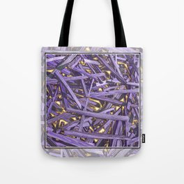 PURPLE KINDLING AND GLOWING EMBERS ABSTRACT Tote Bag