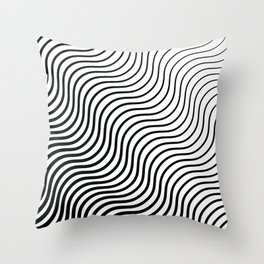 Whiskers - Black #399 Throw Pillow
