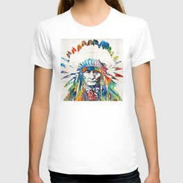 Native American Art - Chief - By Sharon Cummings T-shirt