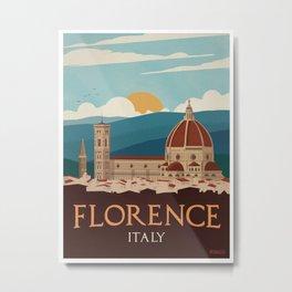 Vintage Italian Travel Poster- Italy Metal Print