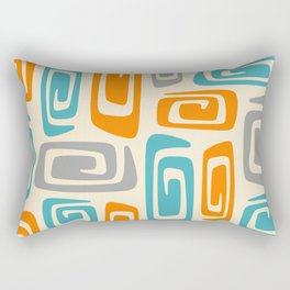 Mid Century Modern Cosmic Abstract 740 Orange Blue and Gray Rectangular Pillow