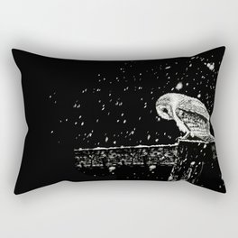 Snowfall at Night (Owl) Rectangular Pillow