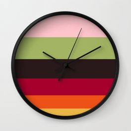 Colorful Color-blocking Stripes Colour Block Stripes Wall Clock