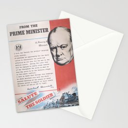 Reprint of British wartime poster. Stationery Cards
