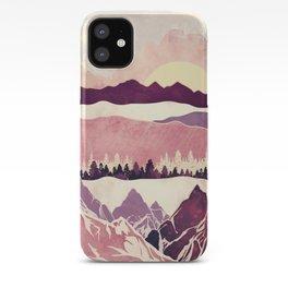 Burgundy Hills iPhone Case
