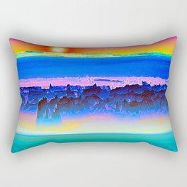 Alien Sunset Rectangular Pillow