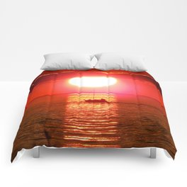 Sailboat Holds the Sun Comforters