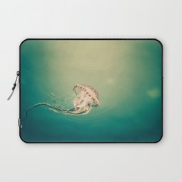 Lady Jellyfish is swimming in the calm sea of Trieste. Laptop Sleeve