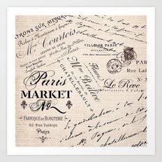 Paris Market 2 Art Print