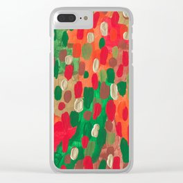 Abstact Candy Colorplosion Fall Clear iPhone Case