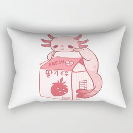 Axolotl Stawberry Milk Rectangular Pillow