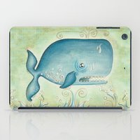 the whale iPad Cases featuring WHALE by Patrizia Ambrosini