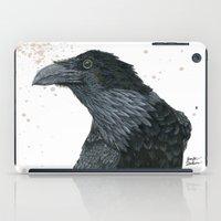 lara croft iPad Cases featuring Raven Croft 2 by Jennifer Lambein