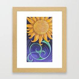 celtic sunflower  Framed Art Print