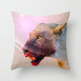 Feast of the Low Poly Lion Pride Throw Pillow
