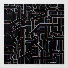 City Circuitry / Stadtkreise Canvas Print
