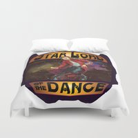 starlord Duvet Covers featuring (Star) Lord of the Dance by Fiendish Thingy Art