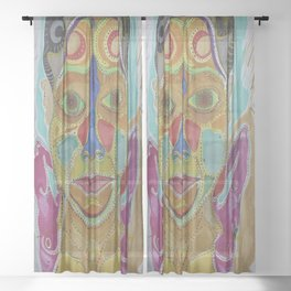 Self Portrait  Sheer Curtain