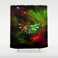 triforce Shower Curtains featuring Zelda Triforce  by Inara