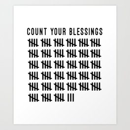 Count Your Blessings Art Print