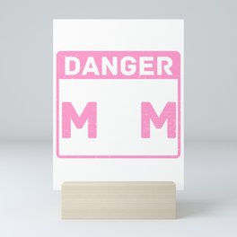 Cute & Funny Danger Softball Mom Will Shout Loudly Mini Art Print