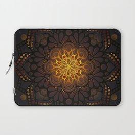 """Warm light Moroccan lantern Mandala"" Laptop Sleeve"