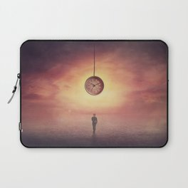 Self overcome, time travel concept, achieving success Laptop Sleeve