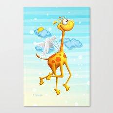 Fly Giraffe fly Canvas Print