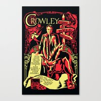 crowley Canvas Prints featuring Crowley by Tracey Gurney