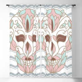 SKULL IN PASTELS Blackout Curtain
