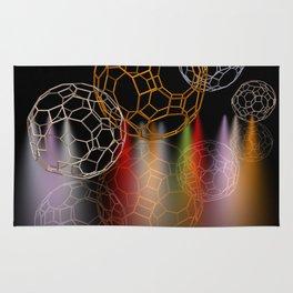 geometrical shapes and spotlights Rug