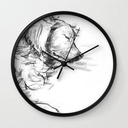 Dreaming Golden Retriever Wall Clock