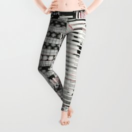 Vulnerability Commerce (P/D3 Glitch Collage Studies) Leggings