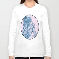 70s Long Sleeve T-shirts featuring '70s Zombie Pinup by Joe Humphrey