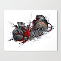 vans Canvas Prints featuring VANS by alexviveros.net