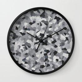 white irregular shape pattern Wall Clock