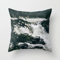 Athabasca Falls Throw Pillow
